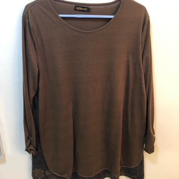 Reborn Dresses & Skirts - Long Sleeve T-Shirt Dress w/ flower pattern